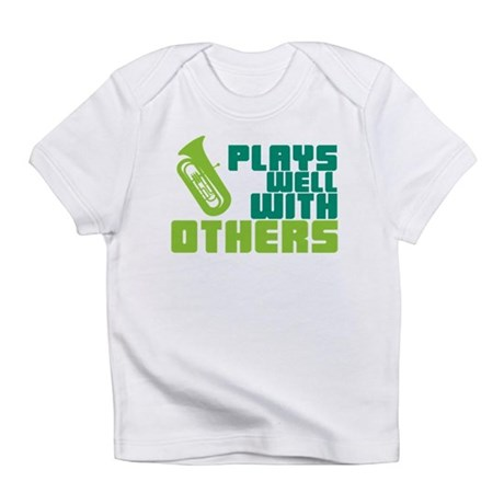 Tuba Plays Well Infant T-Shirt