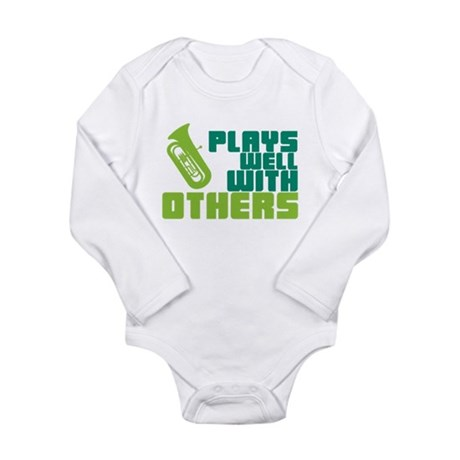 Tuba Plays Well Long Sleeve Infant Bodysuit