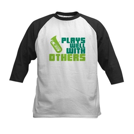 Tuba Plays Well Kids Baseball Jersey