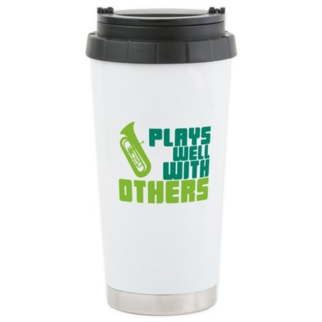 Tuba Plays Well Ceramic Travel Mug