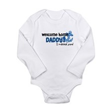 Welcome Home Daddy *navy* Long Sleeve Infant Bodys