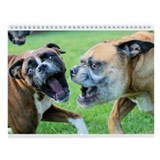 Boxers At Play Wall Calendar