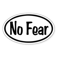 No Fear Oval Decal