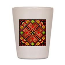 Folk Art 4 Shot Glass