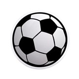 "Fun Soccer Ball 3.5"" Button"