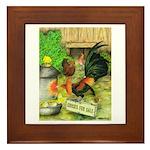 Chicks For Sale Framed Tile