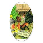 Chicks For Sale Oval Sticker