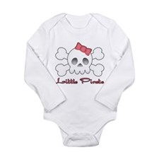 Little Pink Pirate Long Sleeve Infant Bodysuit