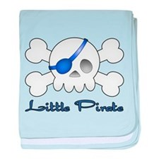 Little Blue Pirate baby blanket