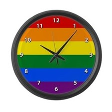 Gay Pride Large Wall Clock