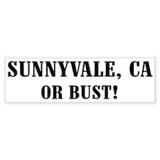 Sunnyvale or Bust! Bumper Car Sticker