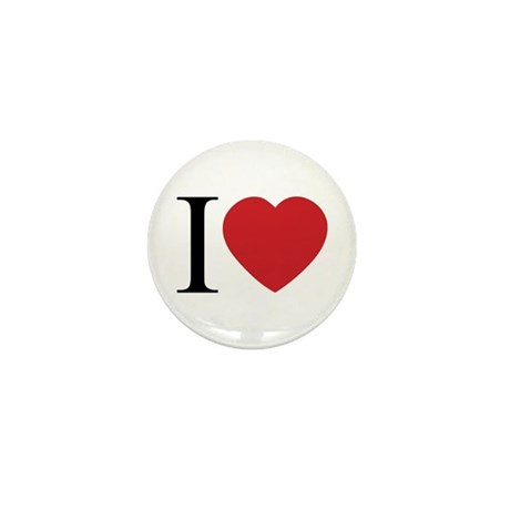 I LOVE (Heart) Mini Buttons ~ Pack of 10