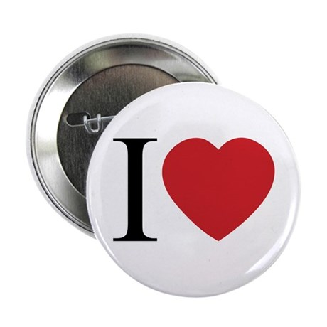 I LOVE (Heart) 2.25 Inch Button