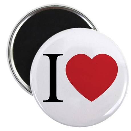 I LOVE (Heart) Round Magnet