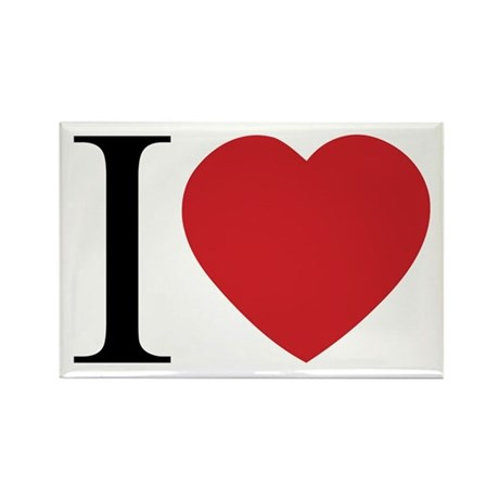 I LOVE (Heart) Rectangle Magnets ~ Pack of 100