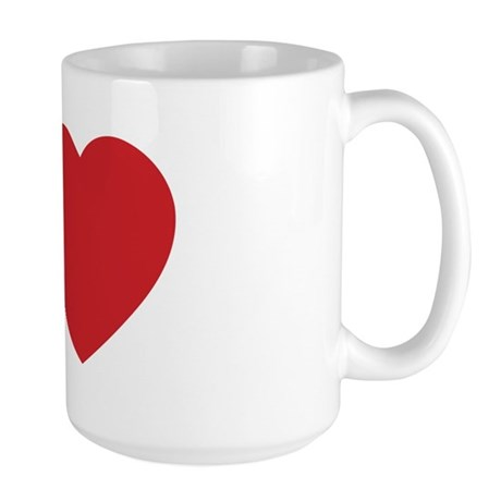 I LOVE (Heart) Large Coffee Mug