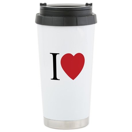 I LOVE (Heart) Ceramic Travel Mug
