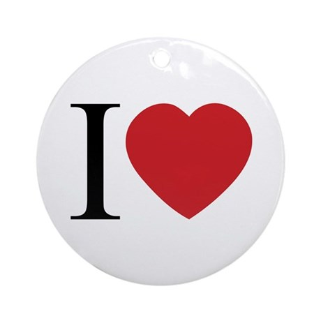 I LOVE (Heart) Round Ornament