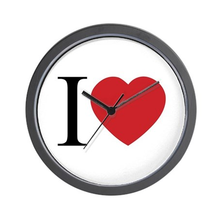 I LOVE (Heart) Wall Clock