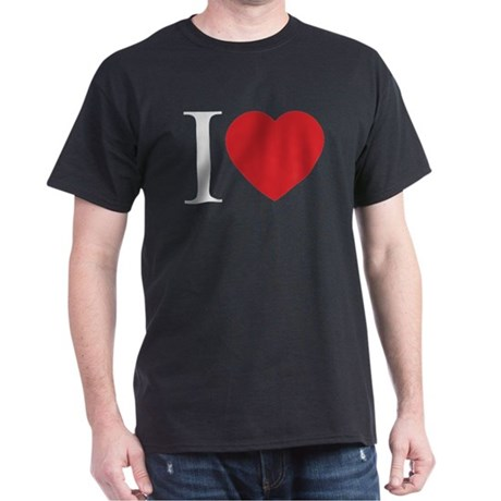 I LOVE (Heart) Men's Dark T-Shirt