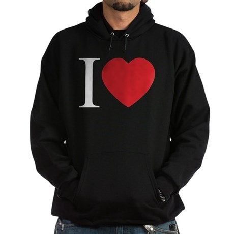I LOVE (Heart) Men's Dark Hoodie