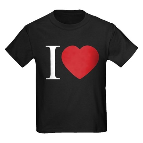 I LOVE (Heart) Kids Dark T-Shirt