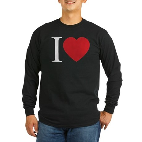 I LOVE (Heart) Men's Long Sleeve Dark T-Shirt
