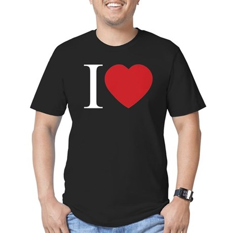 I LOVE (Heart) Men's Fitted Dark T-Shirt