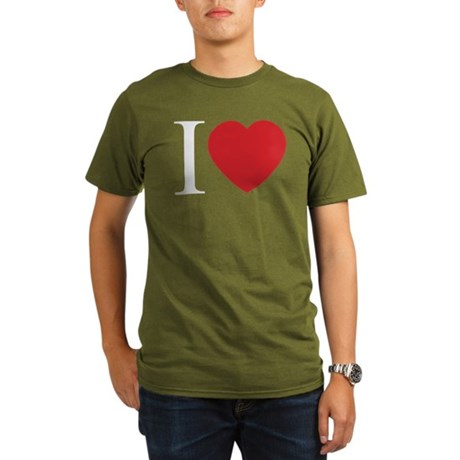 I LOVE (Heart) Organic Men's Dark T-Shirt