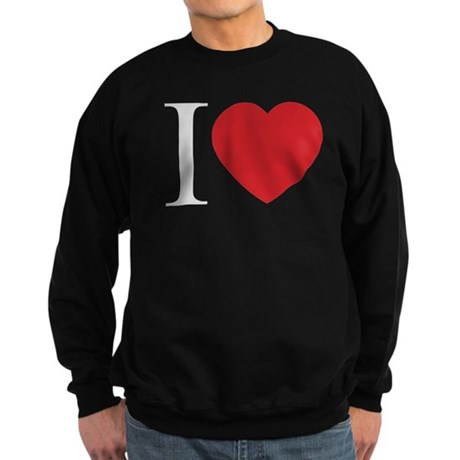 I LOVE (Heart) Men's Dark Sweatshirt