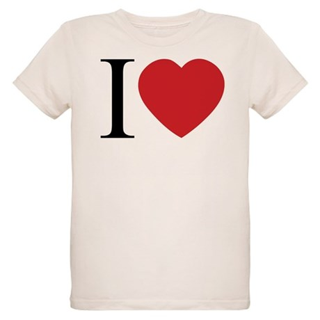 I LOVE (Heart) Organic Kids T-Shirt