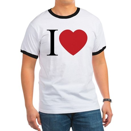 I LOVE (Heart) Men's Ringer Tee