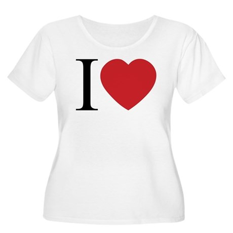 I LOVE (Heart) Women's Plus Size Scoop Neck T-Shirt