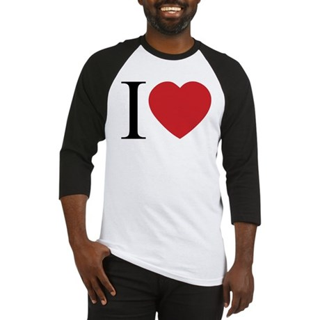 I LOVE (Heart) Men's Baseball Jersey