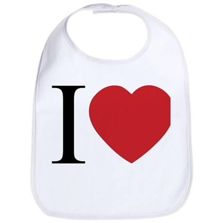 I LOVE (Heart) Baby Bib