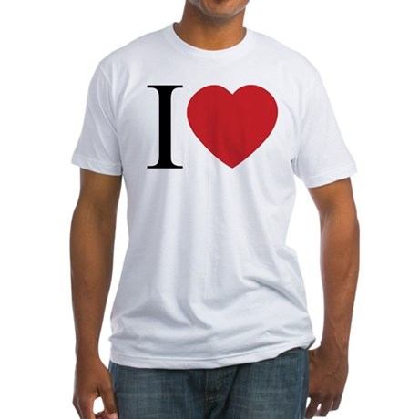 I LOVE (Heart) Men's Fitted T-Shirt
