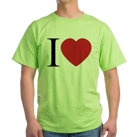 I LOVE (Heart) Green T-Shirt
