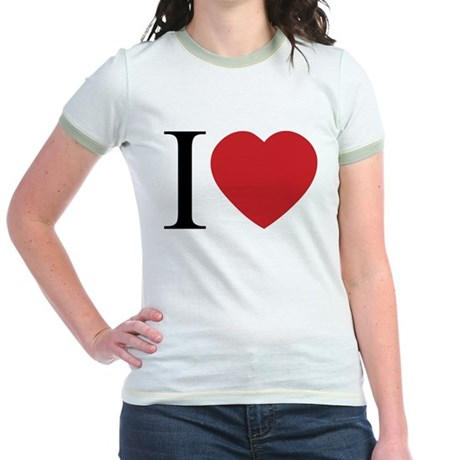 I LOVE (Heart) Junior Ringer T-Shirt