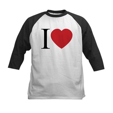 I LOVE (Heart) Kids Baseball Jersey