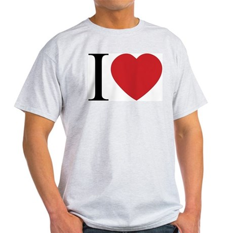 I LOVE (Heart) Men's Light T-Shirt