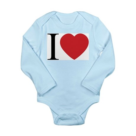 I LOVE (Heart) Long Sleeve Infant Bodysuit