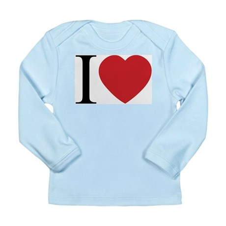 I LOVE (Heart) Long Sleeve Infant T-Shirt