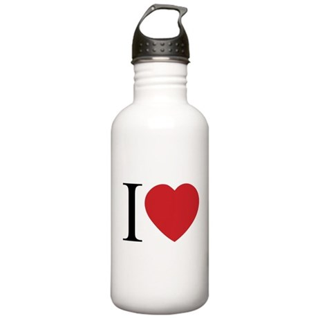 I LOVE (Heart) One Liter Stainless Water Bottle