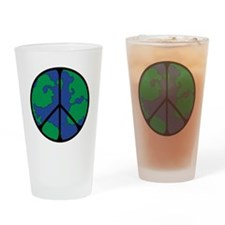 Global Peace Sign Drinking Glass