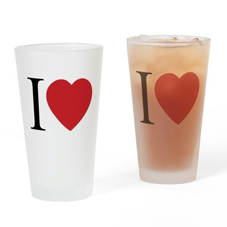 I LOVE (Heart) Drinking Glass