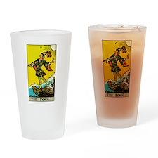 The Fool Tarot Card Drinking Glass