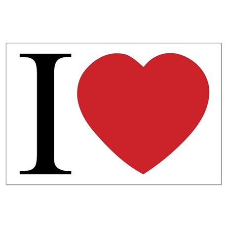 I LOVE (Heart) Large Poster