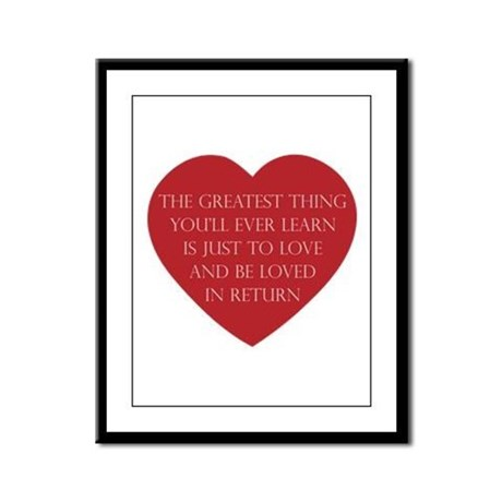 Love and be Loved Framed Panel Print