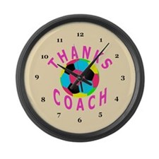 Soccer Coach Thank You Gift Large Wall Clock