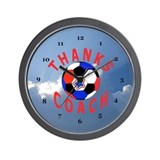 Soccer Coach Thank You Gift Wall Clock